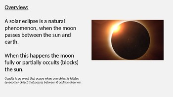 Solar Eclipse - Total Eclipse Power Point all the facts info pictures 2017