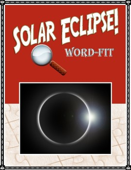 Solar Eclipse vocabulary WordFit puzzle
