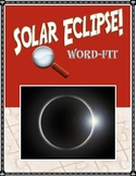Solar Eclipse vocabulary review WordFit puzzle; Earth Science, Astronomy