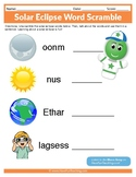 Solar Eclipse Word Scramble Worksheet