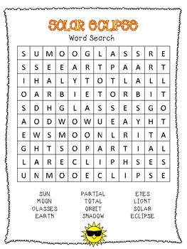 Solar Eclipse Word Search