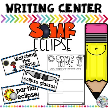 Solar Eclipse Writing Center for Kindergarten