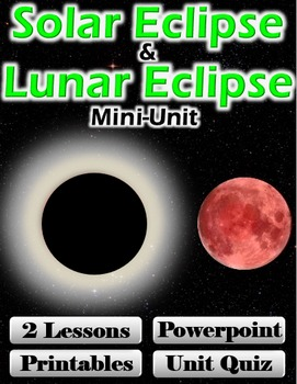 Solar Eclipse and Lunar Eclipse Mini-Unit (2 Lessons, Powe