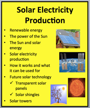 Solar Electricity Production - An Introduction to Solar Power! - Lesson