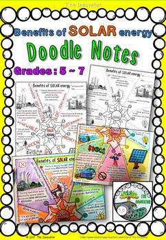 "Solar Energy Benefits - ""Doodle Notes"""