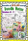 "Solar Energy Benefits - ""Doodle Notes"""