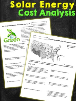 Solar Energy Cost Analysis Worksheet