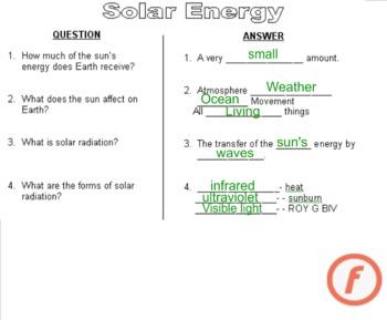 Solar Energy Notes