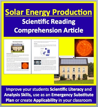 Solar Energy Production - Renewable Energy - Science Readi