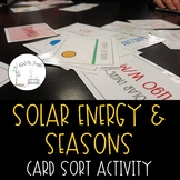 Solar Energy and Seasons--Card Sort Activity