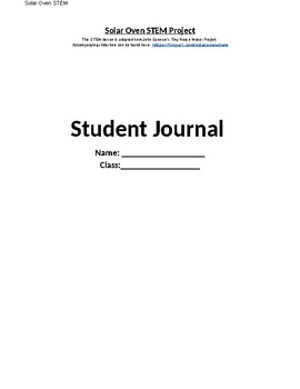 Solar Oven STEM Project - Student Journal
