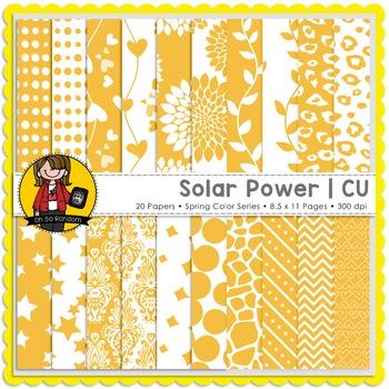 Solar Power Digital Papers {CU}
