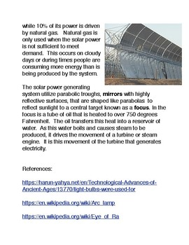 Solar Power Generating Systems