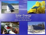 Solar Power - Grades 3 through 5 Presentation - Updated 3/2016