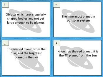 Solar System Exit Tickets