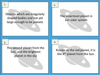 Solar System Exit Tickets