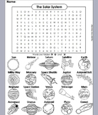 Solar System and Planets Worksheet/ Word Search (Astronomy Unit)