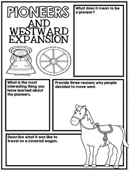 Westward Expansion Activity Poster Project - Pioneers