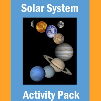 Solar System Activities   Solar System Worksheets   Solar