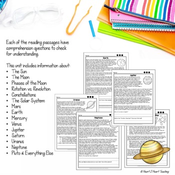 Solar System Activities: Phases of the Moon, Neil Armstrong, Sally Ride