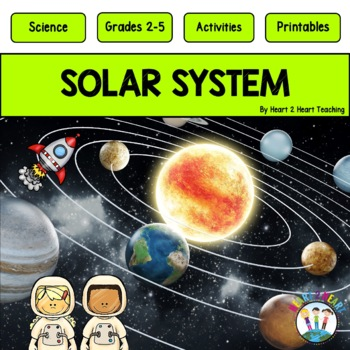 Solar System-Phases of the Moon, Neil Armstrong, Sally Ride & Flip Book for INBs
