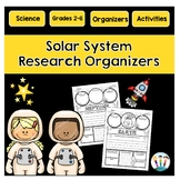 Solar System Activities: Research Organizers for Solar System Projects