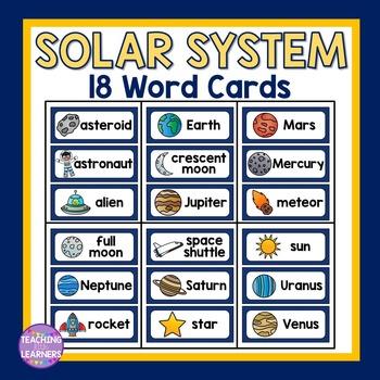 Solar System Word Cards