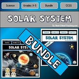 Solar System-Planets, Lunar Cycle, Neil Armstrong, Sally Ride, Flip Book for INB