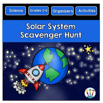 Solar System Scavenger Hunt with Colorful Planet Posters