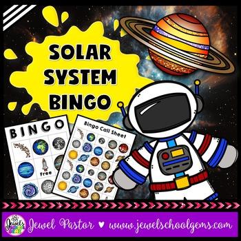 Solar System Science Bingo