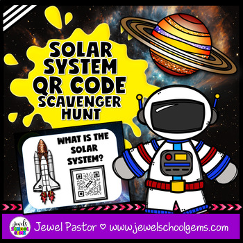 Solar System QR Codes Scavenger Hunt Activities