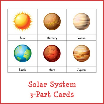 Montessori Solar System 3-part Cards