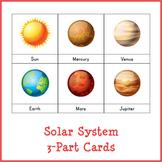 Montessori Solar System 3-part Cards
