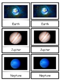 Solar System Montessori 3-part cards--Planets of the Solar System--Safariology