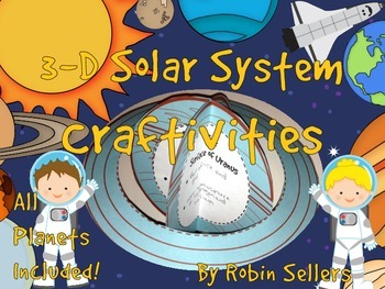 Solar System: {3D Solar System Craftivity} All Planets Included