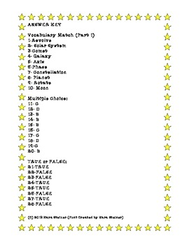 Solar System: 4th Grade Test