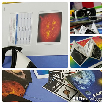 ESL Solar System - 6 learning station lesson / resources with AR and VR