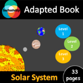 Solar System ADAPTED BOOK Level 1, level 2 and level 3 wit