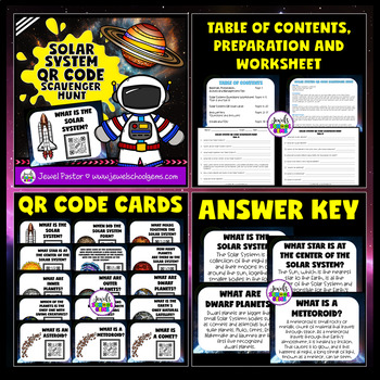 Solar System Activities BUNDLE (Bingo and QR Codes Scavenger Hunt)