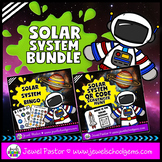 Solar System Activities BUNDLE (Bingo and QR Codes Scaveng