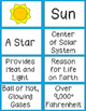 Solar System Activity Fact Cards: Sun & 8 Planets
