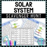 Solar System Activity - Scavenger Hunt Challenge - Gallery Walk - Science
