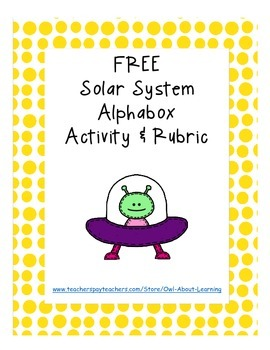 Solar System and Outer Space Alphaboxes FREEBIE