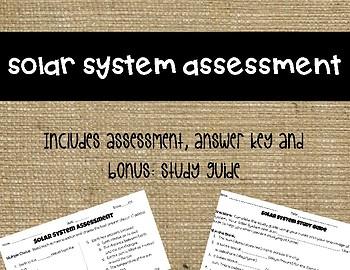 Solar System Assessment (3rd Grade)