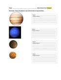 Solar System Assessment Sample