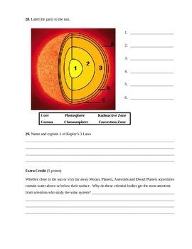 Solar System Assessment (Test)