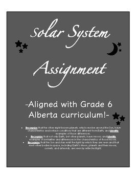 Solar System Assignment
