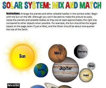 Google Drive Solar System Astronomy INB Jr High Science TX TEKS 6.11A 6.11C 7.9A