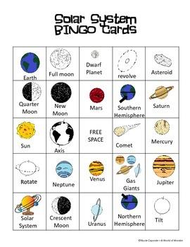 Solar System--BINGO Game