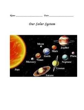 Solar System & Beyond Notes 4th Grade Science